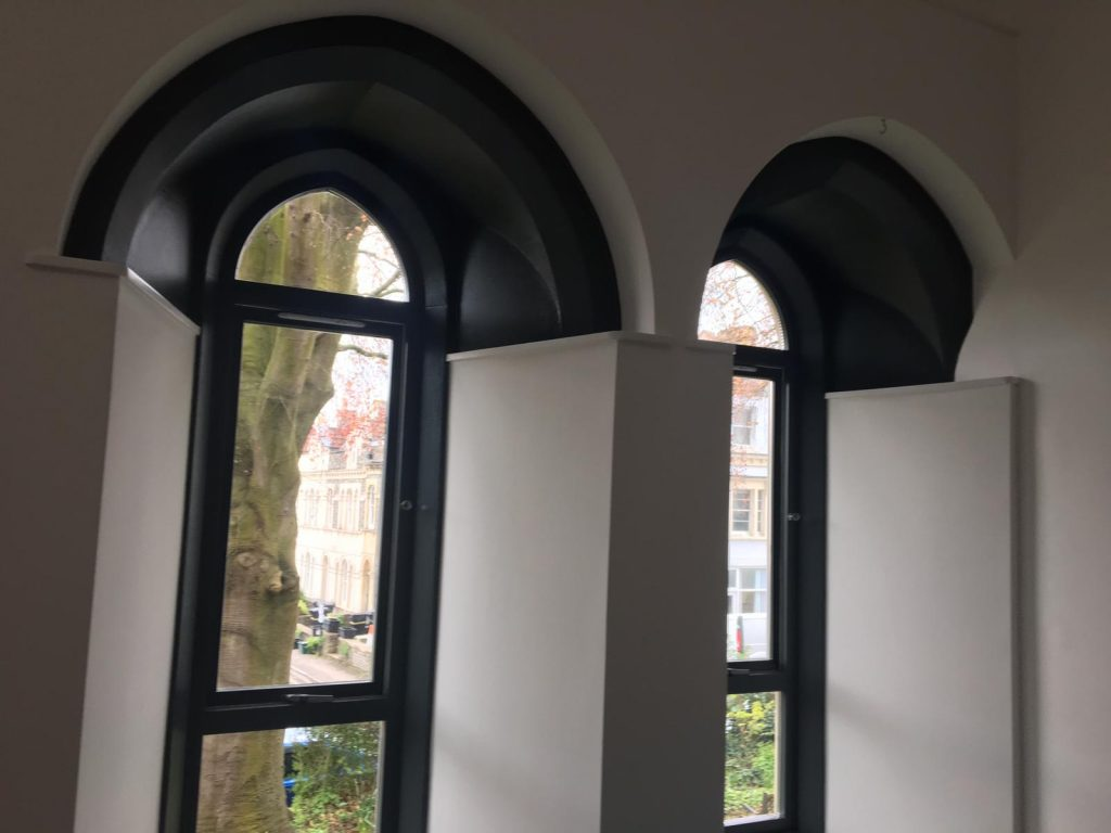 Church windows converted flat Redland